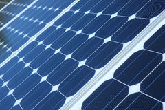 Blue solar pannels Stock Photo