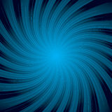 Blue solar swirl. Blue abstract background design ideal to place text over Royalty Free Stock Images