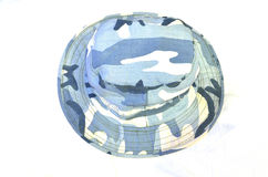 Blue soldier hat design Stock Images