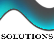 Blue solutions Royalty Free Stock Photo