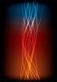 blue som ändrar den kalla orangen för att värme waves Arkivbild