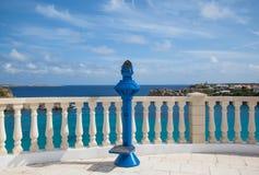 blue som ut ser teleskop Royaltyfria Bilder