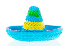 Blue sombrero Royalty Free Stock Image