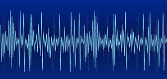 Blue sound graph Royalty Free Stock Photos