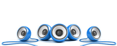 Blue sound system Royalty Free Stock Image