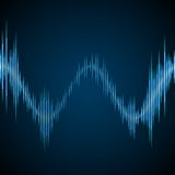 Blue sound wave Stock Photography