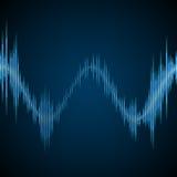 Blue sound wave. On a dark background Stock Photography