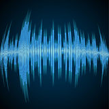 Blue sound wave Stock Photos