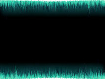 Blue sound wave on white background. + EPS8 Royalty Free Stock Image