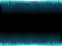 Blue sound wave on white. + EPS10 Stock Image