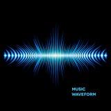 Blue sound waveform with sharp edges. Blue sound waveform with sharp thorn peaks around Royalty Free Stock Photo