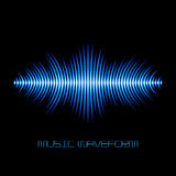 Blue sound waveform with sharp edges Stock Images