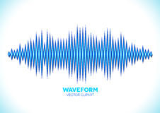 Blue sound waveform Royalty Free Stock Images