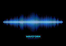 Blue sound waveform Stock Image
