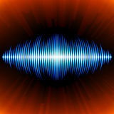 Blue sound waveform Royalty Free Stock Photography