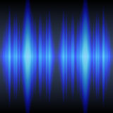 Blue sound waves. Shiny blue sound waves background royalty free illustration
