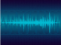 Blue Sound waves Stock Images
