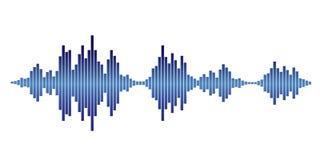 Blue Sound waves Stock Image
