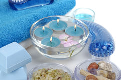 Blue spa stock photography