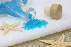 Blue spa Royalty Free Stock Image