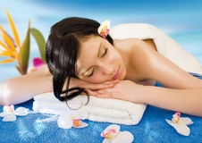 Blue spa 7 Royalty Free Stock Images