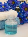 Blue spa arrangement Stock Images