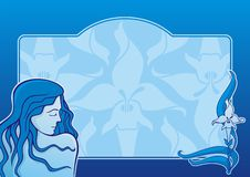 Blue spa girl horizontal Stock Photo