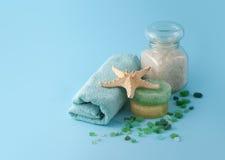 Blue spa reeks Stock Foto
