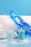 Blue spa relaxation Stock Image