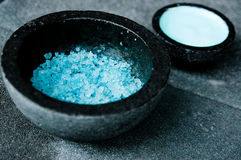 Blue Spa Salts Stock Photography