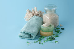 Blue spa series Royalty Free Stock Photography