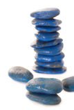 Blue spa stone Stock Photography
