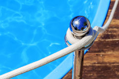 Blue spa swimming pool with clean water Royalty Free Stock Photography