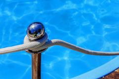 Blue spa swimming pool with clean water Stock Photography