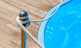 Blue spa swimming pool with clean water Royalty Free Stock Photos