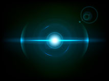 Blue space explosion, cosmos burst Royalty Free Stock Photography