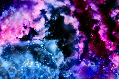 Blue space nebula Royalty Free Stock Image