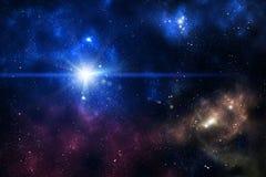 Blue space nebula royalty free illustration