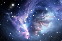 Blue space nebula Royalty Free Stock Photo