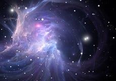 Blue space nebula Stock Image
