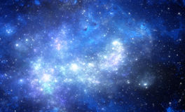 Blue space nebula Royalty Free Stock Photography