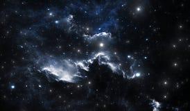 Blue space nebula Royalty Free Stock Image