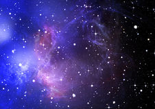 Blue space nebula Royalty Free Stock Photos