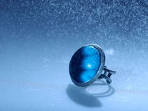 Blue space ring Royalty Free Stock Photo