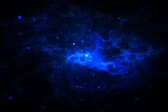 Blue space scene Royalty Free Stock Images