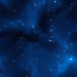 Blue Space Stars. 2D rendered image of space Royalty Free Stock Photo