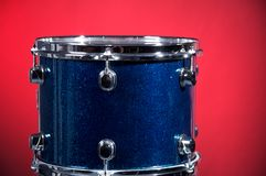 Blue Sparkle Drum On Red Royalty Free Stock Photography
