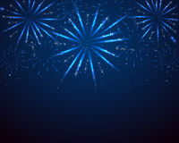 Blue sparkle fireworks Stock Photography