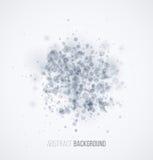 Blue sparkles on white background Stock Image
