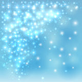Blue sparkling background Royalty Free Stock Image